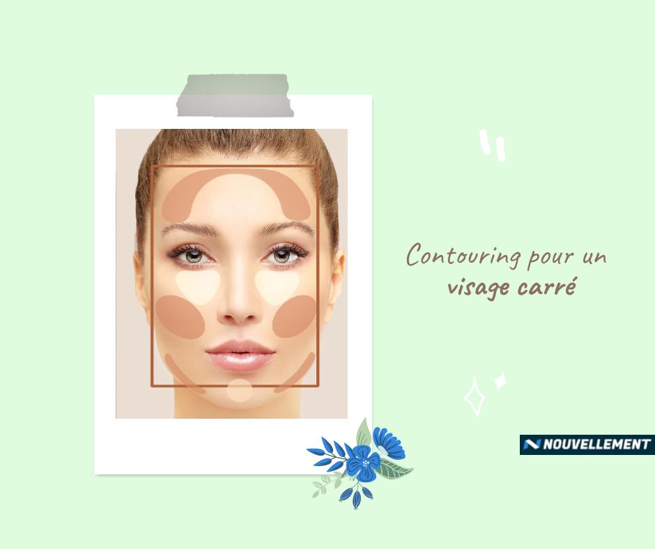 contouring visage carré