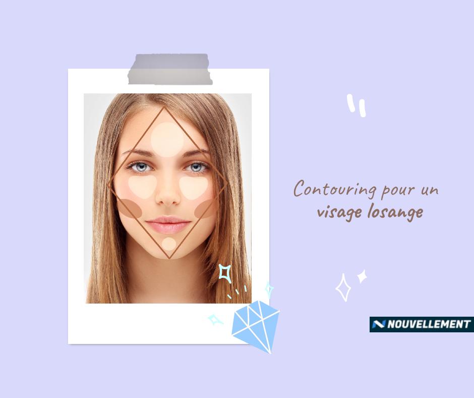losange contour du visage